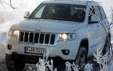 Zum Artikel Pressepräsentation Jeep Grand Cherokee: Off-Road im Winterwunderland