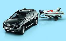 Zum Artikel Dacia bietet den Duster mit einem Yamaha-Boot an