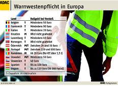Zum Artikel Licht- und Warnwestenpflicht in Europa